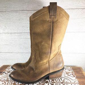 "Jessica Simpson ""Rosanna"" Distressed Leather Boots"